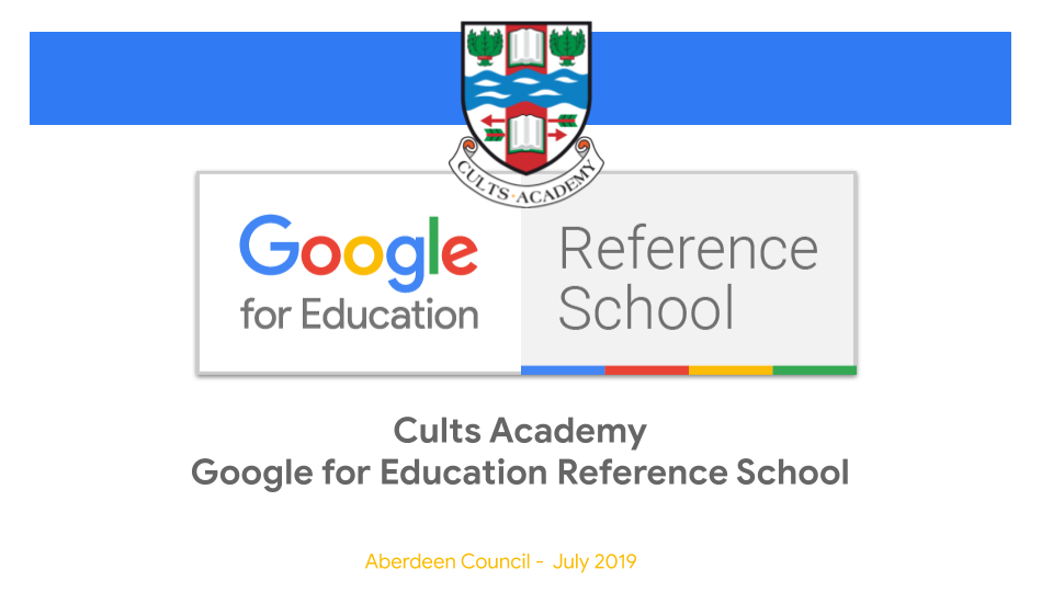 Google Suite Parents' Evening – Cults Academy